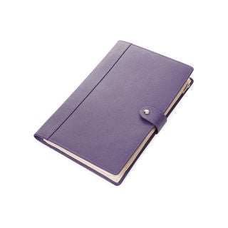Morelle Naomi Saffiano Purple Leather Jewelry Notebook