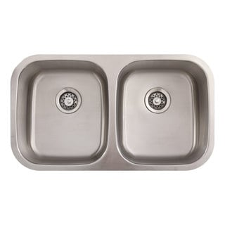 Phoenix 32-inch Stainless Steel 18 gauge Undermount Double Bowl Kitchen Sink