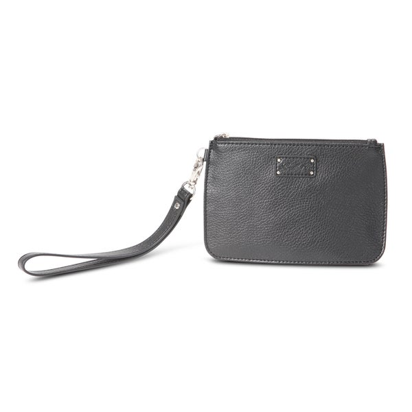Morelle Alice Black Wristlet Bag