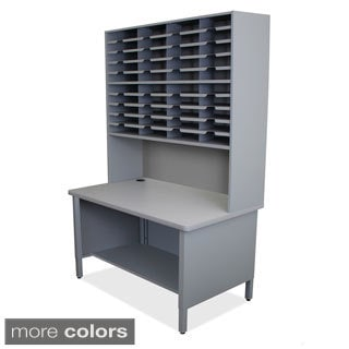 Marvel 40-slot Shelved Riser Mailroom Organizer Cabinet