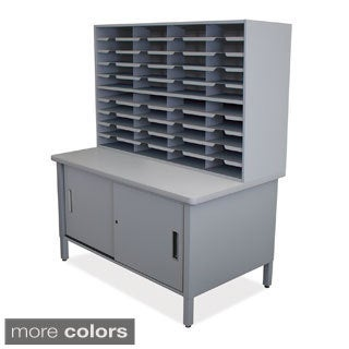 Marvel 40-slot Sliding Door Mailroom Organizer Cabinet