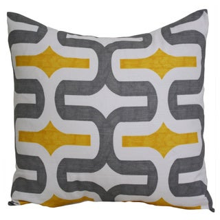 Taylor Marie Grey/ Yellow 'Embrace' Pillow Cover