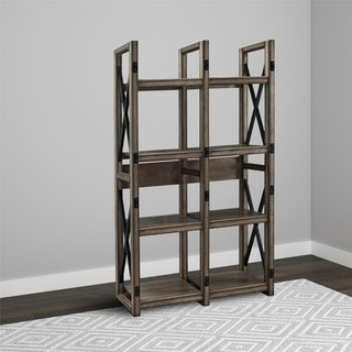 Altra Wildwood Rustic Metal Frame Bookcase/ Room Divider