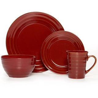 Pfaltzgraff Everyday Athena Red 16-piece Dinnerware Set