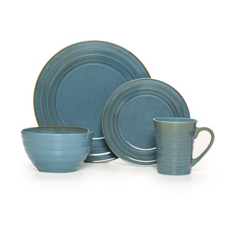 Pfaltzgraff Everyday Athena Teal 16-piece Dinnerware Set