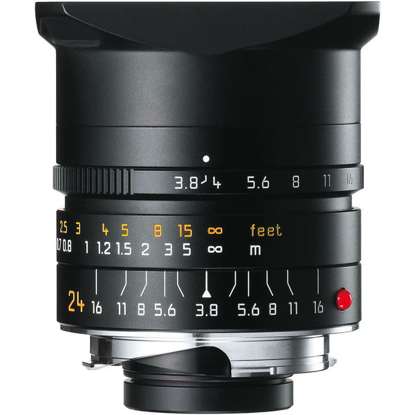 Leica Wide Angle 24mm f/3.8 Elmar M Aspherical Manual Focus Black Lens