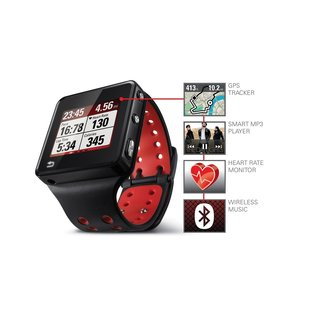 Motorola MOTOACTV 8GB GPS Sports Watch with Heart Rate Monitor and Smart MP3 Player Bundle