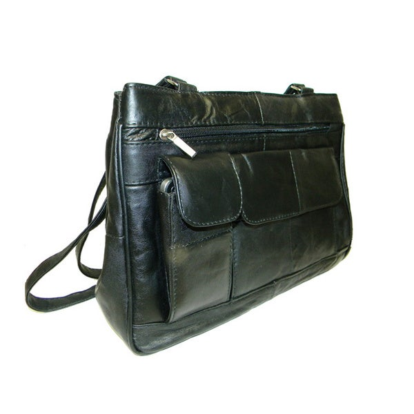 Hollywood Tag New Zealand Lambskin Leather Shoulder Bag