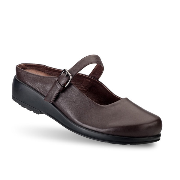 Women's 'Dawn' Brown Leather Casual Mary Jane Shoes