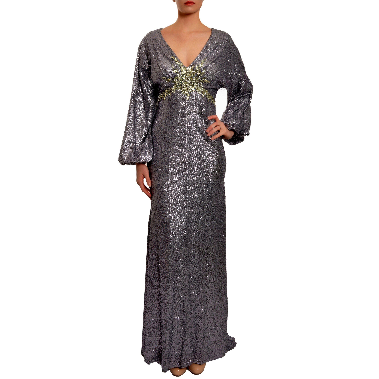 Overstock.com Mac Duggal Gunmetal Sequin-embellished Formal Evening Gown at Sears.com