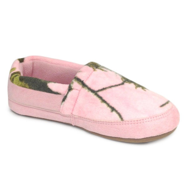 Winchester Women's Pink Microsuede Slippers