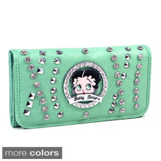 Betty Boop Rhinestone and Multi-Studded Checkbook