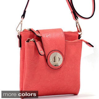 'Isabelle' Twist-lock Dual Compartment Crossbody Bag