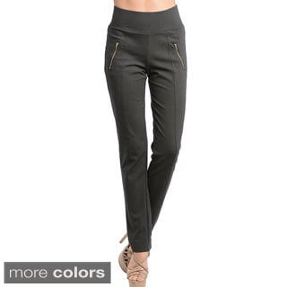 Stanzino Women's Banded High Waist Slim Pants