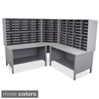 Marvel 100-slot 2-shelf Corner Mailroom Organizer