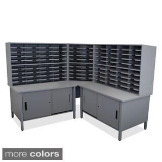 Marvel 100-slot Corner Mailroom Organizer Cabinet