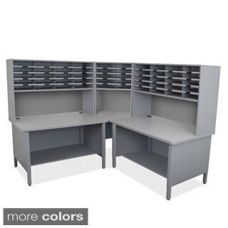 Marvel Two-shelf 50-slot Riser Corner Mailroom Organizer