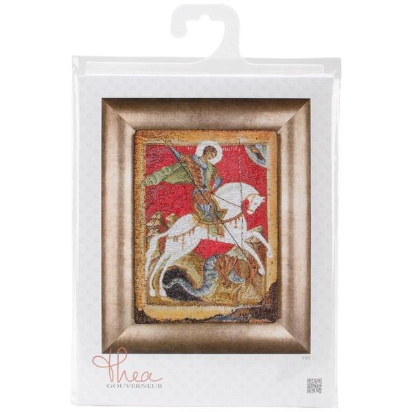 St. George & The Dragon On Aida Counted Cross Stitch Kit - 8-3/4 X13-1/2 18 Count