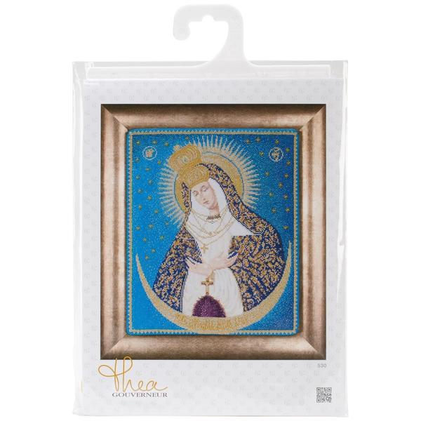 Our Lady Of The Gate On Aida Counted Cross Stitch Kit - 9-3/4 X11-3/4 18 Count