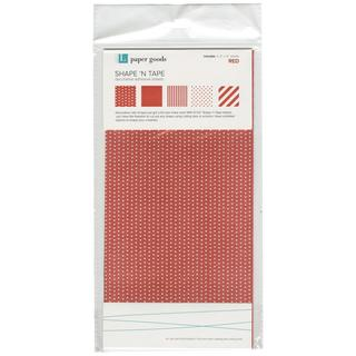 Shape 'n Tape Washi Sheets 6 X12 5/Pkg - Red