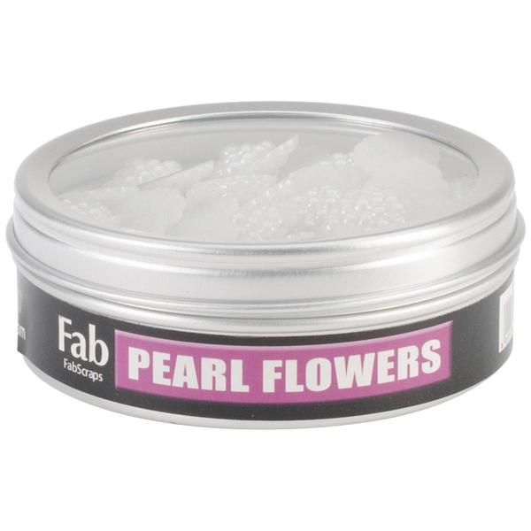 Pearl Flower Embellishments .5 50/Tin -