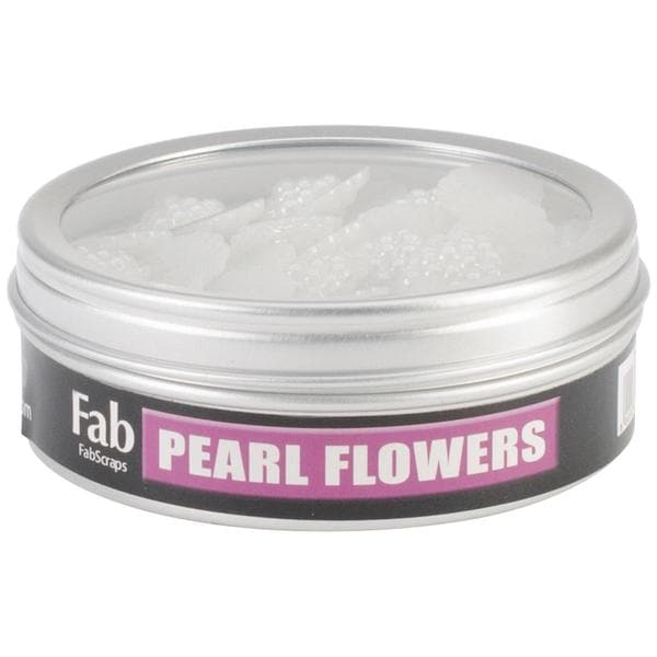 Pearl Flower Embellishments .5 50/Tin -