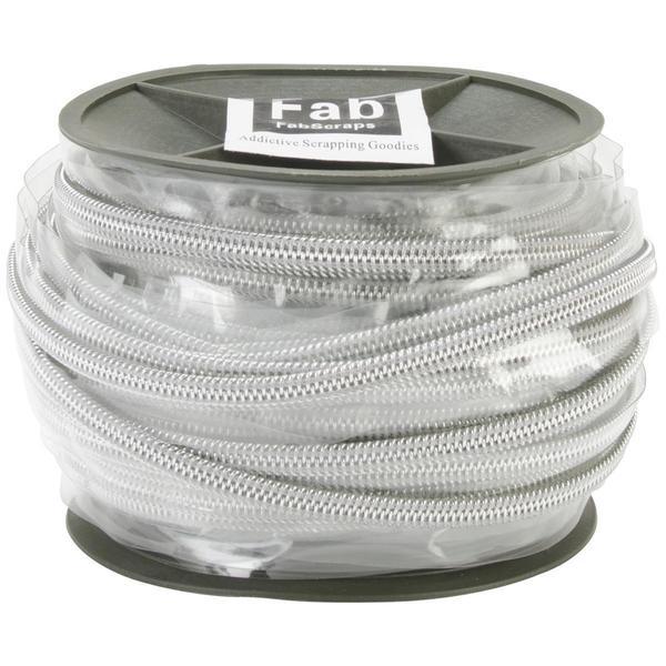 Plastic Zip Trim 20m - Silver