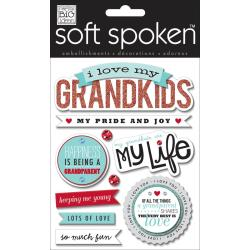 Soft Spoken Themed Embellishments - I Love My Grandkids