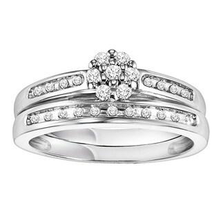 Cambridge Sterling Silver 1/4ct TDW Diamond Bridal Set (I-J, I2-I3)