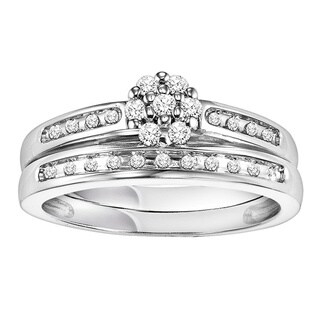 Cambridge Sterling Silver 1/4ct TDW Diamond Bridal Set (I-J, I2-I3)