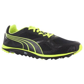 Puma Mens Spikeless Faas Lite Mesh Black/ Fluorescent Yellow Golf Shoes