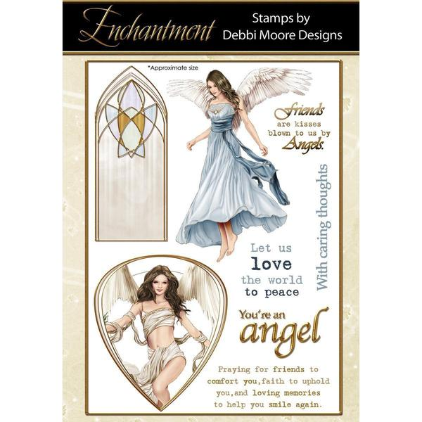 Debbi Moore Enchantment Clear Stamp Set - Angels Of Inspiration 8pcs