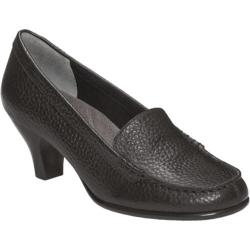 Women's Aerosoles Wise Choice Black Textured Leather