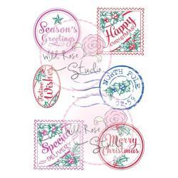 Wild Rose Studio Ltd. Clear Stamp 3.5 X3 Sheet - Christmas Labels