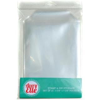 Avery Elle Stamp & Die Storage Pockets 25/Pkg - Clear