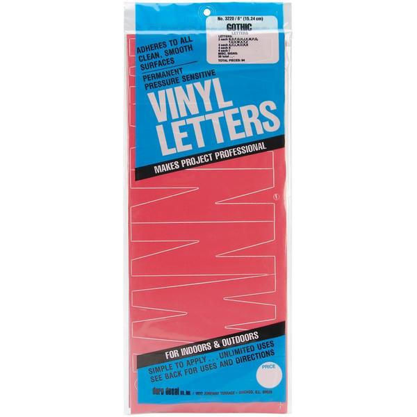 Permanent Adhesive Vinyl Letters 6 - Red