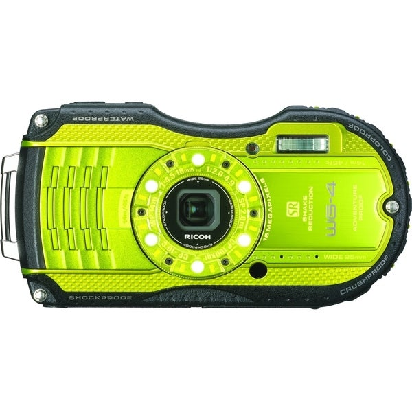 Pentax WG-4 16 Megapixel Compact Camera - Lime Yellow