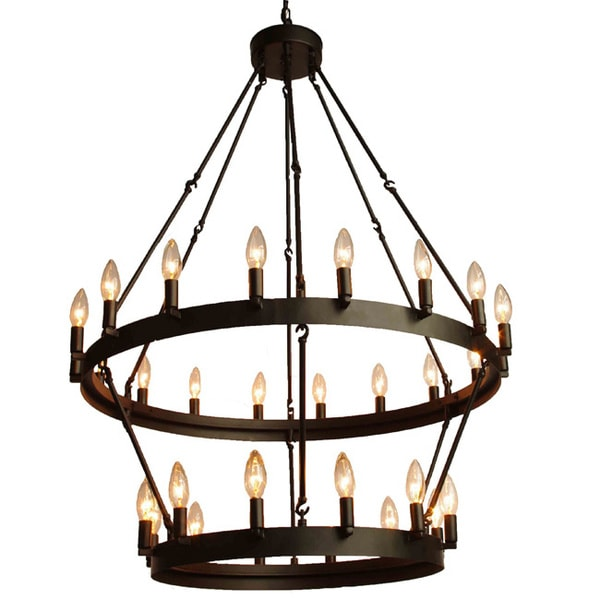 Gallery Rustic Style 30 Light 2 Tier Chandelier