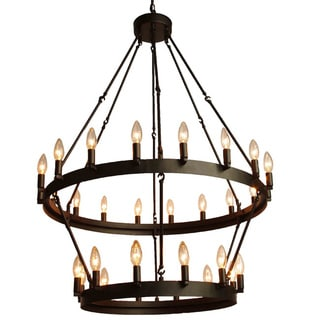 Gallery Rustic Style 30-light 2-tier Chandelier