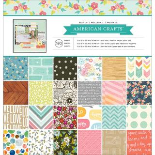 Best Of Paper Pad 12 X12 180/Sheets - American Crafts