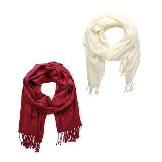 Set of 2 Handmade Men's/ Women's Saachi Scarves (India)