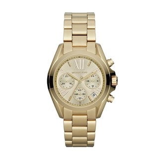 "Michael Kors Women's MK5798 Mini ""Bradshaw"" Goldtone Stainless Steel Watch"