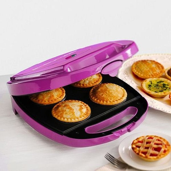 BabyCakes PM-44 Purple Nonstick Coated Pie Maker