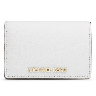 Michael Kors Medium Jet Set Travel Slim Saffiano Wallet - Optic White