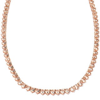 Meredith Leigh Bronze Simulated Morganite Tennis Necklace