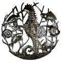 Handcrafted Seahorse and Fish Metal Art (Haiti)