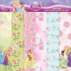 Disney Paper Pack 12 X12 12 Sheets - Princess
