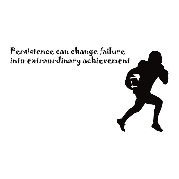 American Football Persistence Quote Vinyl Wall Art