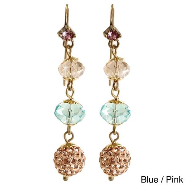 Sweet Romance Long Slinky Bead Earrings