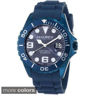 Haurex Italy Men's Ink Aluminum Date Luminous Watch